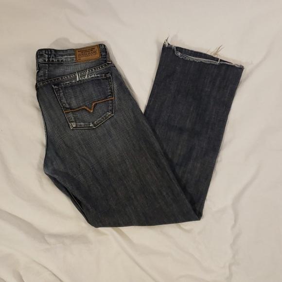 Guess Slim Straight Leg Jeans Men/'s Size 31 X 30 Classic Distressed Light Wash